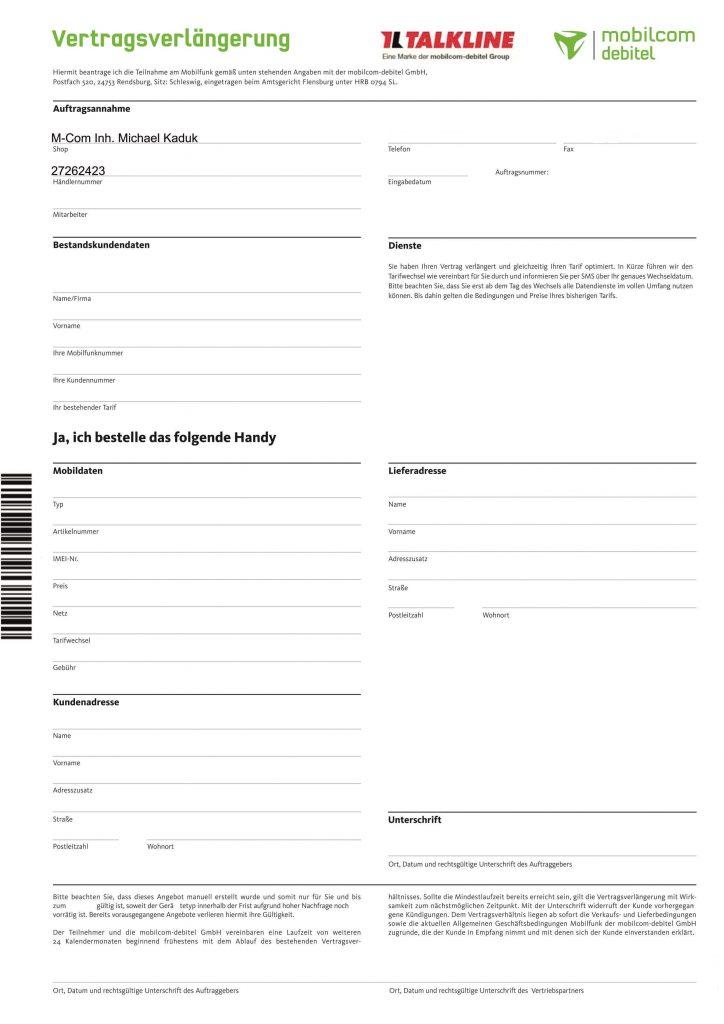Vertragsverlängerung mobilcom - Service-Rufnummer: 0800 / 72 72 072